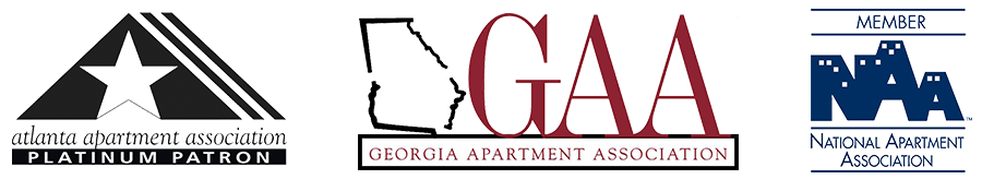 Image: Apartment Association logos. Georgia Eviction Services at Renters Reference Services in Atlanta, GA